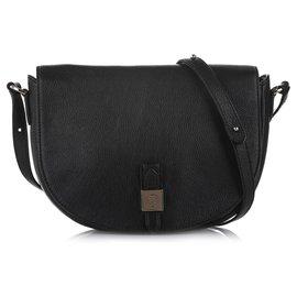 Mulberry-Mulberry Black Tessie Leather Crossbody Bag-Black