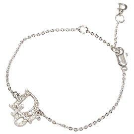 Dior-Bracelet à breloques logo Dior en argent-Argenté