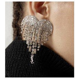 Saint Laurent-Earrings-Silvery