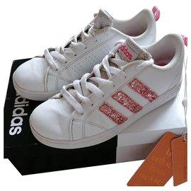 Adidas-Glitters-Rose,Blanc