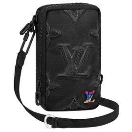 Louis Vuitton-LV lined phone pouch 2025-Black