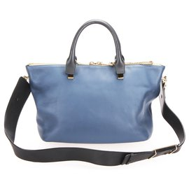 Chloé-Chloe Blue Bailey Leather Satchel-Blue