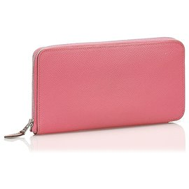 Hermès-Hermes Pink Epsom Azap Wallet-Pink