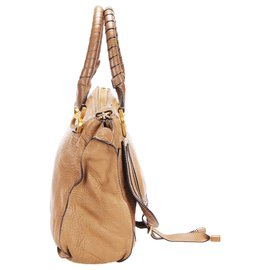 Chloé-Chloe Brown Marcie Leather Handbag-Brown,Light brown