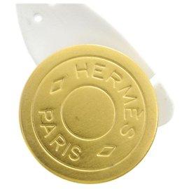 Hermès-Boucle d'oreille Hermès-Jaune