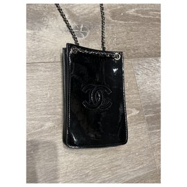 Chanel-Clutch bags-Black,Silver hardware