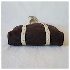 Louis Vuitton-Bags Briefcases-Brown,Beige