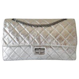 Chanel-Handbags-Silvery