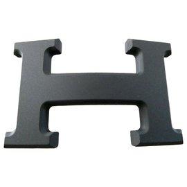 Hermès-Hermès black pvd buckle 32MM-Black