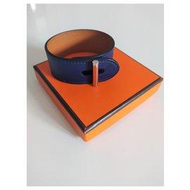 Hermès-Bracelet en cuir hermès-Bleu