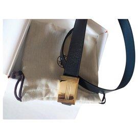 Hermès-Reversible belt in epsom calf leather 32MM-Black