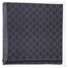 Gucci-ggweb gucci scarf new-Dark grey