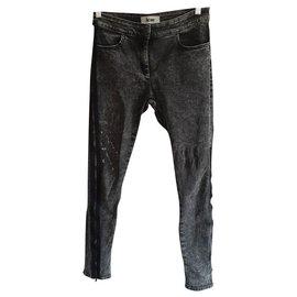 Acne-Pants, leggings-Dark grey