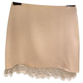 Chanel-Chanel silk skirt-Cream