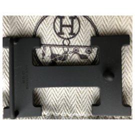 Hermès-Black belt buckle-Black