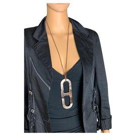 Hermès-Pendentif Hermès-Marron clair