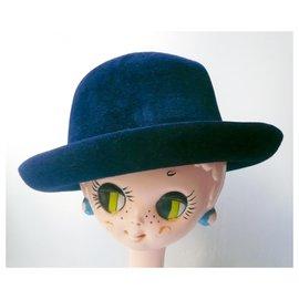 Maison Michel-MAISON MICHEL New hat for man Joseph TM-Blue