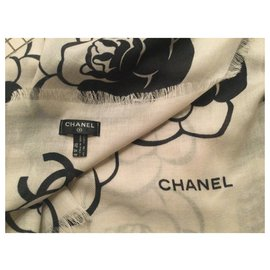 Chanel-Scarf-Black