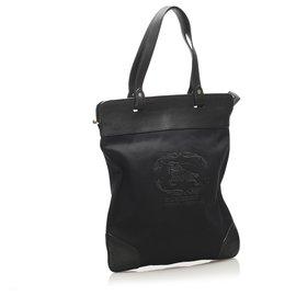 Burberry-Burberry Black Canvas Tote Bag-Black