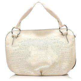 Céline-Celine White Bittersweet Leather Handbag-White