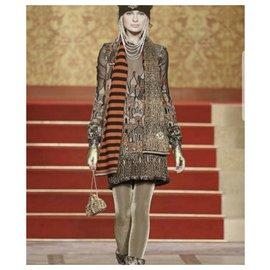 Chanel-Chanel Paris-Moscou Skyline Dress Sz 38-Multiple colors