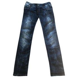 Diesel-Un pantalon-Argenté,Bleu