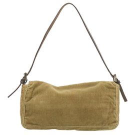 Fendi-Fendi Shoulder Bag-Khaki