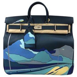 Hermès-Birkin 50 HAC-Blue