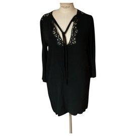 Sandro-Sandro black dress-Black