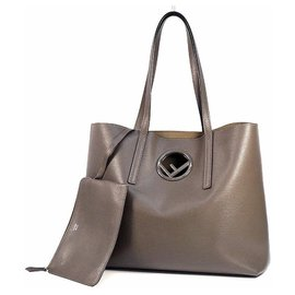 Fendi-FENDI F IS tote Womens tote bag 8BH348 gray brown-Other