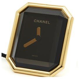 Chanel-FIRST CLOCK CLOCK H0005-Black,Golden