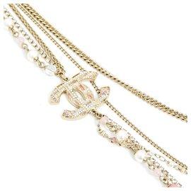 Chanel-5 STRANDS GOLDEN PINK CC-Rose,Doré