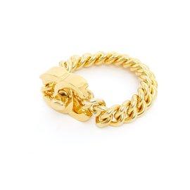 Chanel-XL GOLDEN CC LOCKER BRACELET-Doré