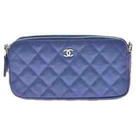 Chanel-Chanel shoulder-Blue