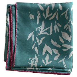 Chanel-Silk scarves-Green