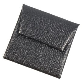 Hermès-HERMES Bastia unisex coin case 041054CK black-Black