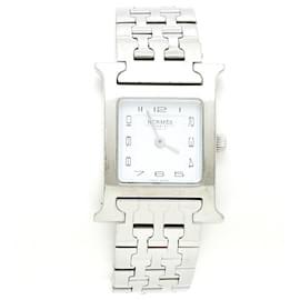 Hermès-TIME H MM FULL STEEL-Silvery