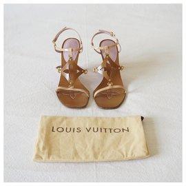 Louis Vuitton-Sandals-Pink,Beige,Caramel