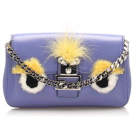 Fendi-Fendi Purple Monster Leather Crossbody Bag-Multiple colors,Purple