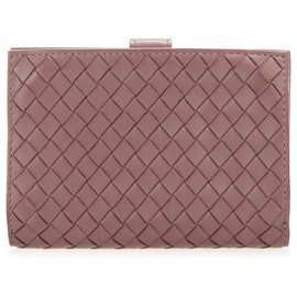 Bottega Veneta-Bottega Veneta Brown Intrecciato Leather Bifold Wallet-Brown