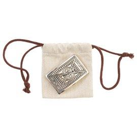 Hermès-Rare Hermès Touareg belt buckle 40mm solid silver-Silvery