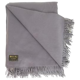 Loro Piana-Loro Piana light purple 100% cashmere Unito blanket with a delicate fringe superfine-Purple