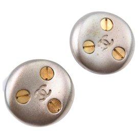 Chanel-Boucle d oreille chanel-Argenté