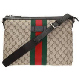 Gucci-Gucci shoulder bag with web new-Beige