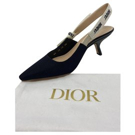 Dior-J'ADIOR SLINGBACK PUMP Tissu technique noir-Noir