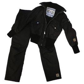 Chanel-rare 02A Sports Line Identification Suit-Black