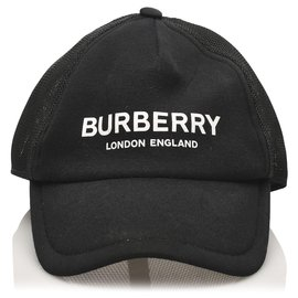 Burberry-Burberry Black Logo Baseball Cap-Black,White