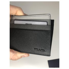 Prada-Prada card holder new-Black
