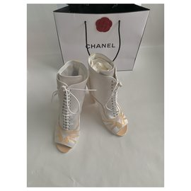 Chanel-Ankle Boots-Grey