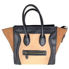 Céline-Céline Mini Luggage-Beige